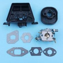 Carburetor Carb Carby Inlet 매니 폴드 가스켓 키트 (파트너 용) 350 351 370 371 420 전기 톱 Walbro 33 29 예비 부품 교체