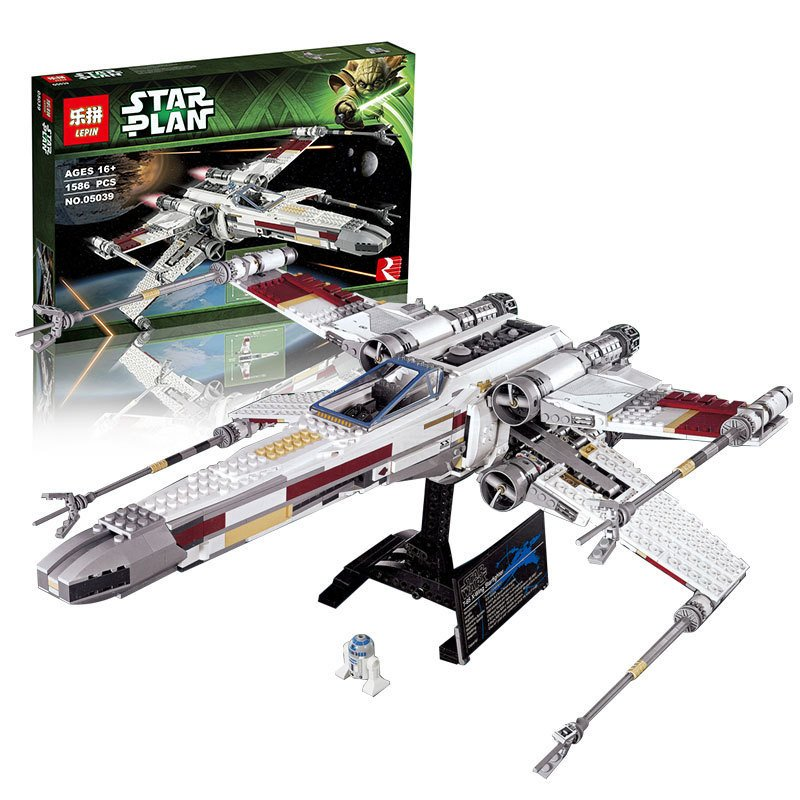 LEPIN 05039 Star series Wars Red Five X-Wing Starfighter Model Building Blocks Compatible with Lego 10240 Children Toys 1616 Pcs lepin 05040 y attack starfighter wing building block assembled brick star series war toys compatible with 10134 educational gift