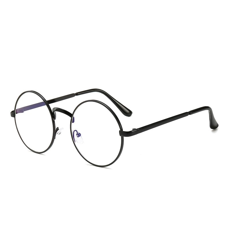 Anti-blau Rays Männer Computer Brillen Uv Strahlung Beständig Frau Pc Lesen Brillen Retro Metall Runde Brille Rahmen