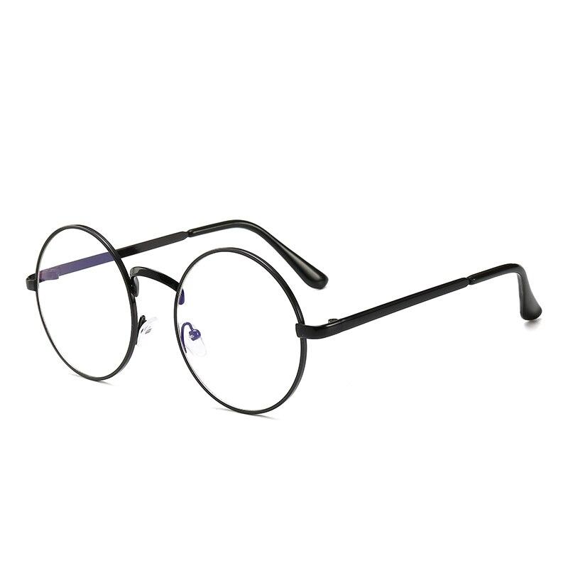 Anti-Blue Rays Men Computer Eyeglasses UV Radiation Resistant Woman PC Reading Eyewear Retro Metal Round Glasses Frame