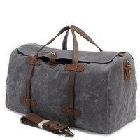 Винтажная сургучная печать холщовая кожаная Женская дорожная сумка, чемодан, сумки мужские даффл сумки Дорожная сумка большая уличная сумк