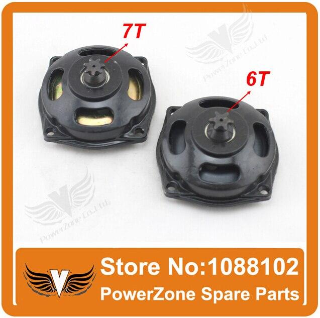 6 Teeth/7Teeth 25H  47CC 49CC Clutch Bell /Drum Housing Gear Box Fit To Mini Moto Pocket Bike Quad ATV Parts Free Shipping