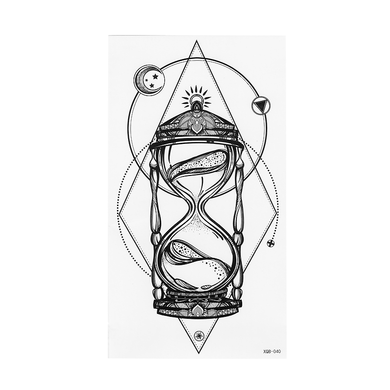 1pcs time hourglass arms blacblack white large flower henna Hourglass Time Art 1pcs time hourglass arms blacblack white large flower henna temporary tattoo black mehndi style waterproof tattoo sticker in temporary tattoos from beauty