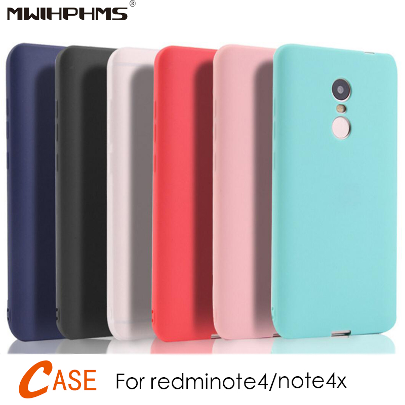 Matte-Case Phone-Bag Candy Redminote4 Silicone Note4/global-Version Case-Cover Xiaomi