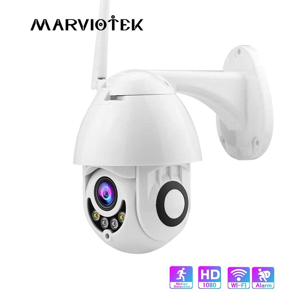 1080P Speed Dome Camera Outdoor Wireless Pan Tilt IP Camera WIFI Two Way Audio IR Night