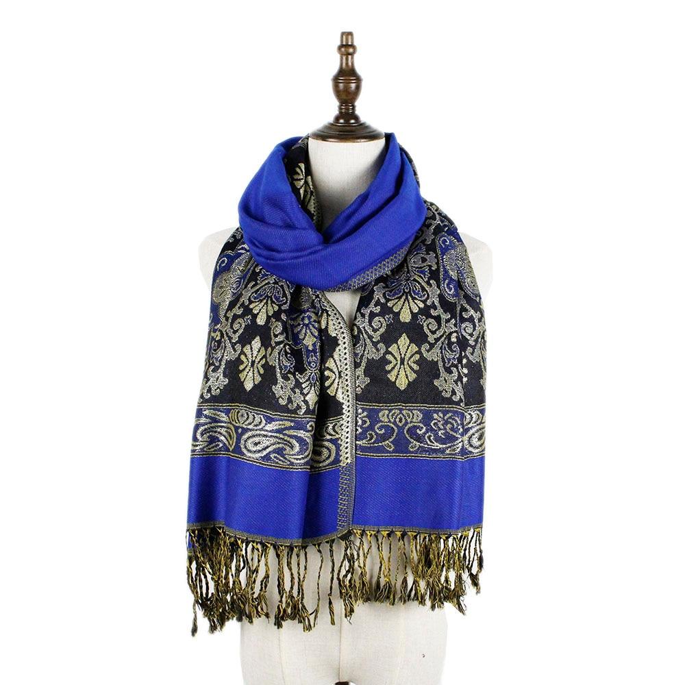 Metical fil de mode de haute qualité 70 190 cm femmes foulard paisley gland  long pashmina châle foulards pashmina capes étoles c5886678092