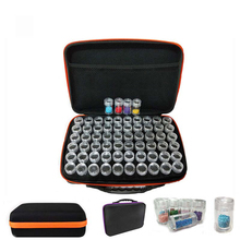 60 Bottles Diamond Painting Box Container Storage Full Square Carry Case Holder Storage Hand Bag Zipper Design Shockproof GT