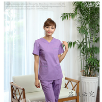 Custom Korea Style Women Medical Scrub Sets Beautician Hospital Nurse Suit Dentist Workwear Clothing Doctors Overalls