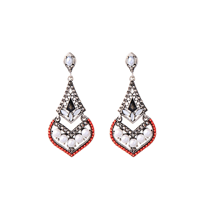 Alloy with Artificial Crystal Bohemian Fashion Holiday Colorful Dangle Earrings