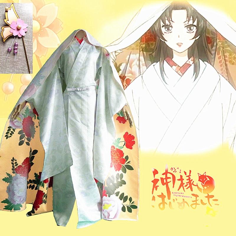 Neue Kleidung Mass Anime Japan Kamisama Kiss Momozono Nanami Es Ist Keine Weisse Blume Hochzeit Kimono Cosplay Kostum Senden In
