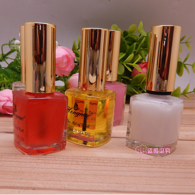 Nail care tools Nail polish Bright oil Softener Transparent red ...
