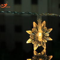 スノーフレーク暖かい白10ピースledストリングライト妖精照明パーティー結婚式庭冬クリスマスランタン装飾ライト