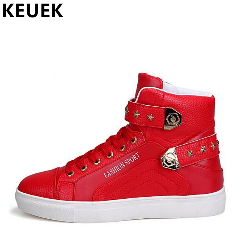 Men High-top shoe Luxury Brand Male Sneakers Soft Comfortable Fashion Designer Men Flats Youth Popular Casual shoes 061 grimentin fashion 2016 high top braid men casual shoes genuine leather designer luxury brand men shoe flats for leisure business