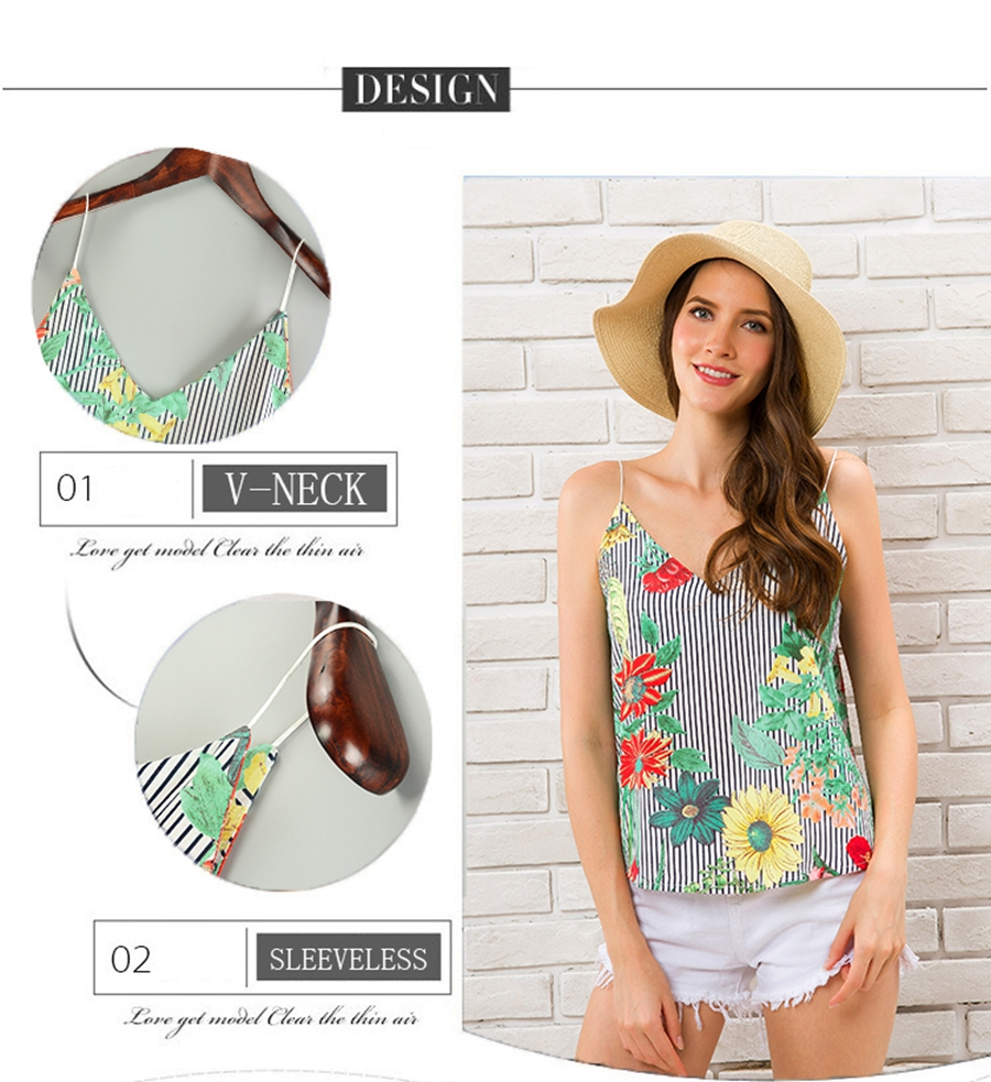 HTB19FPCzf5TBuNjSspmq6yDRVXap - Striped Tank Top Women Flower Print V-neck Sleeveless Summer Camis 2018 Fashion Beach Wear Off Shoulder Shirt Female Clothing