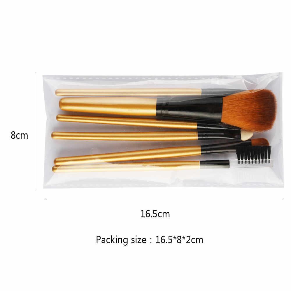 Artista collezione Pennelli 6 pz Spazzole di Trucco Set Da Viaggio Portatile EyePowder Prodotti di base Ombretto Eyeliner Lip Pennello Cosmetico