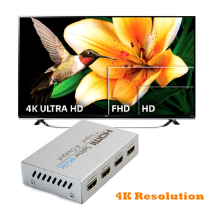 Image 3 - AIXXCO HDCP 4k HDMI Splitter Full HD 1080p Video HDMI Switch Switcher 1X2 1X4 Split 1 in 2 Out Amplifier Display For HDTV DVD