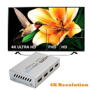 Image 3 - AIXXCO HDCP 4k rozdzielacz HDMI Full HD wideo 1080p przełącznik HDMI przełącznik 1X2 1X4 podzielić 1 w 2 na zewnątrz wzmacniacz wyświetlacz do telewizora HDTV DVD