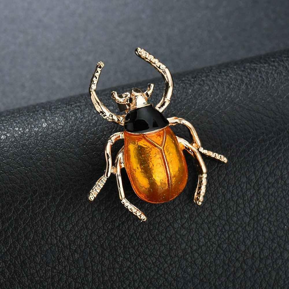 Terreau Kathy Fashion Emas Paduan Bros untuk Pria Kecoa Bros Retro Serangga Bros Kumbang Kumbang Bros Pin Aksesoris