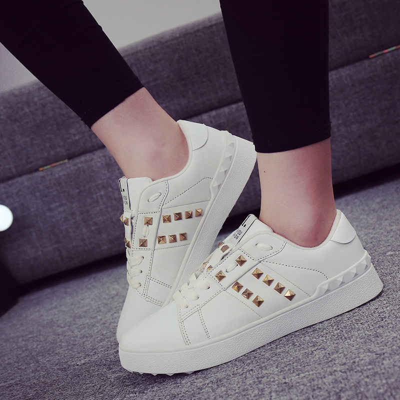 JACKSHIBO Womans Shoes Fashions 2018 Spring Design Women Shoes Rivet - Zapatos de mujer - foto 5