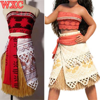Moana Princess Dress Cosplay Party Halloween Dress Skirt Movie Moana Costume Fantays Carnival WXC