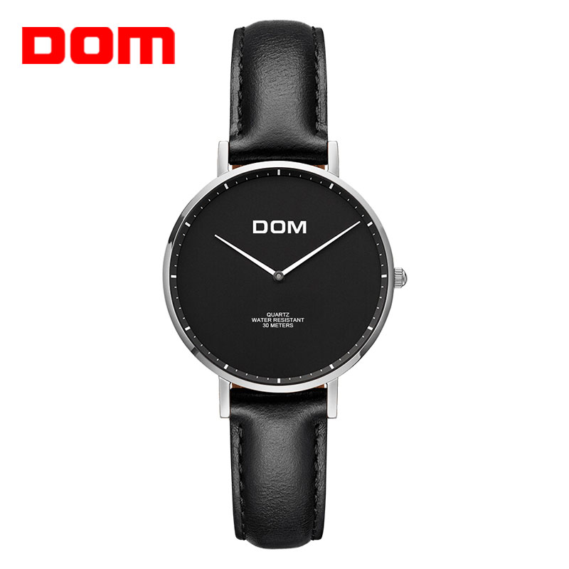 DOM Women Watches New Top Brand Luxury Casua Simple Quartz-watch Leather Strap Lady Watch for  Women Relogi Feminino G-36L-2MS