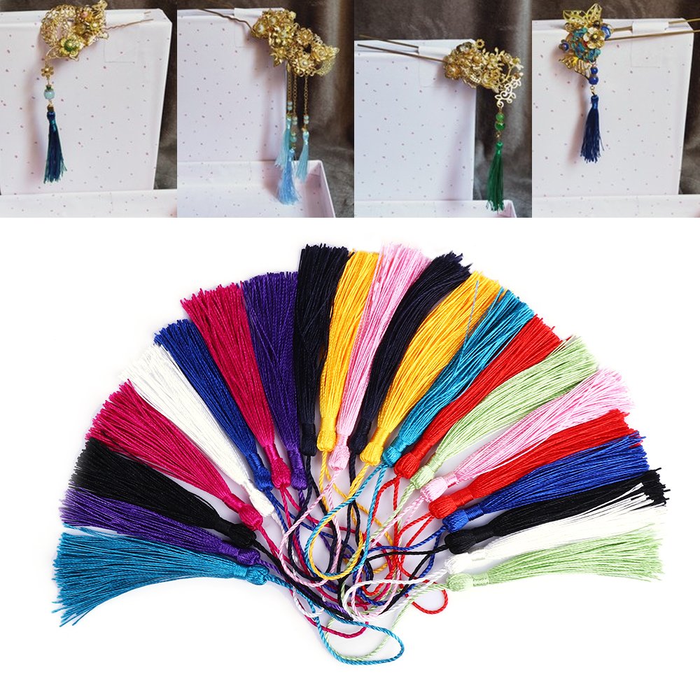 DIY Crafts 30pcs/Pack Polyester 13cm Silk Tassels Fringe Tassels Hanging Curtains For Jewelry Sewing Garment Home Decoration