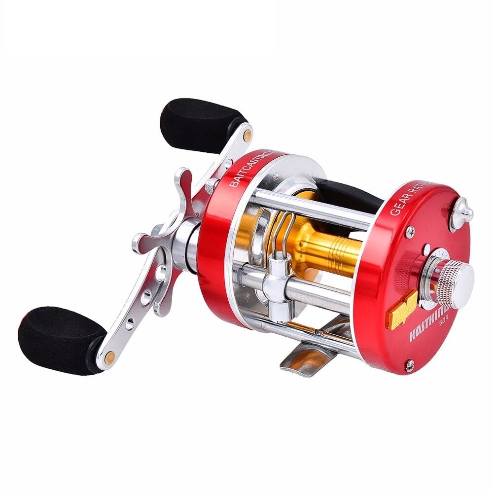 Nouveau moulinet de pêche à la main droite/gauche Kit Pesca moulinet de pêche ronde en eau salée moulinet de pêche à la ligne 7bbs 5.3: 1 moulinet de carpe à la traîne