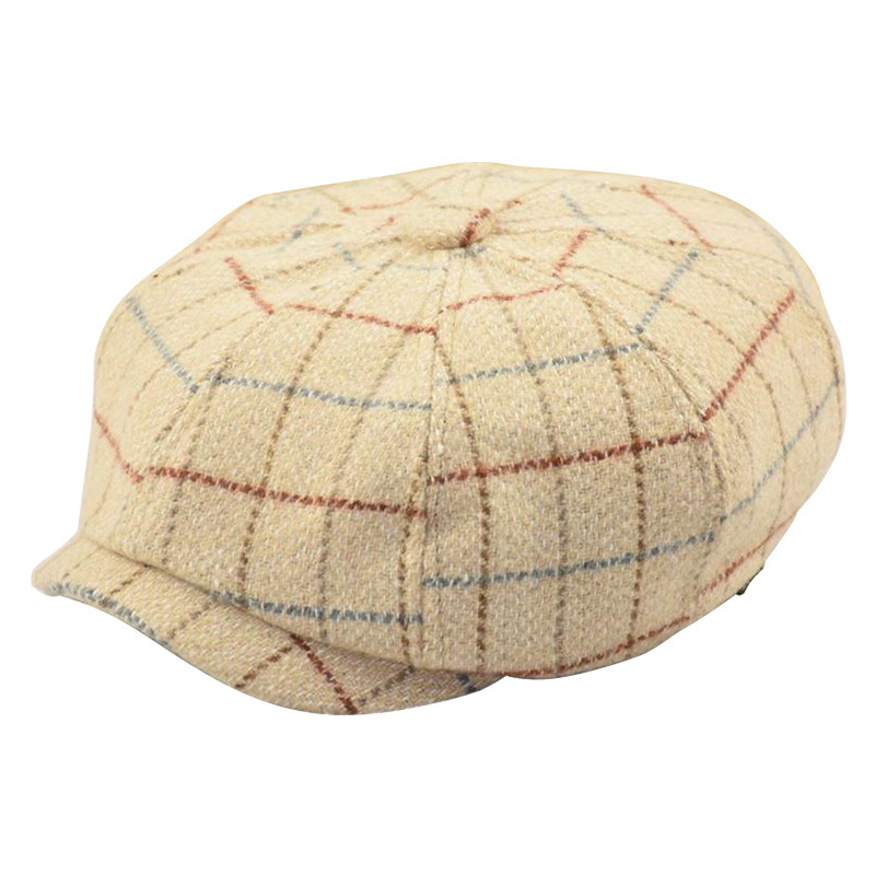 Beret-Hat Newsboy-Caps Wool Autumn Male Winter Man And Felt 57-59cm 60-61cm Octagonal-Cap