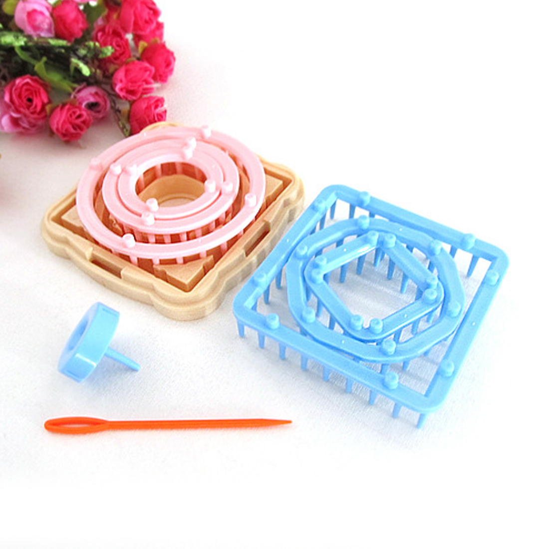 DIY Weaving Tools Creator Yarn Needle Hobby Loom Knitting Machine Color Stitching Tools Flower Loom Knitting Woolen