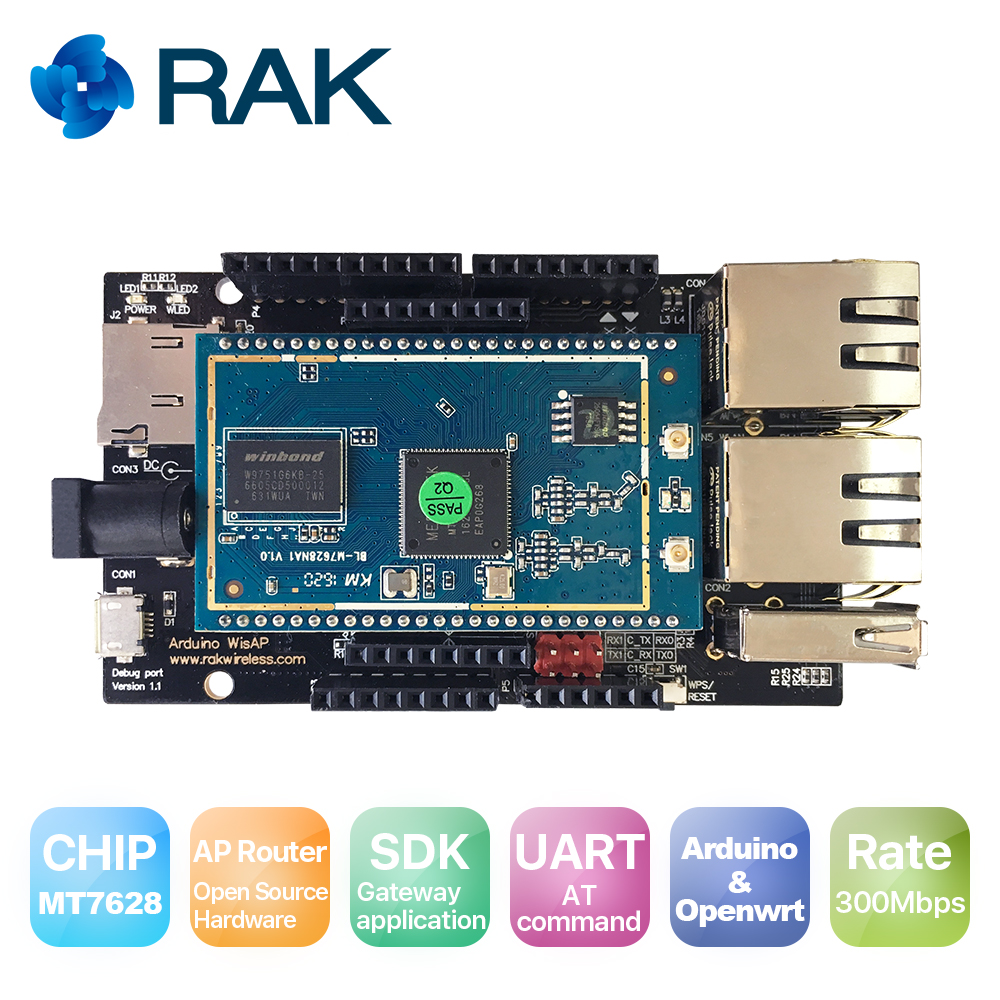 WisAP OpenWRT WIFI Router Module/board, MT7628,Open Source,OpenWRT Arduino,IoT Gateway Module, WiFi repeater/access point module звуковая карта creative sound blaster e3 70sb161000000