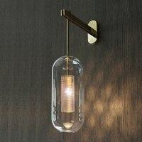 Италия дизайн настенный светильник черный/золотой Спальня прикроватный светильник зеркало украшения дома настенные светильники Крытый со