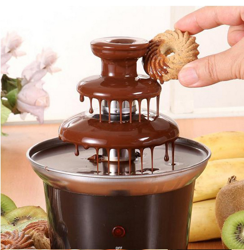 New Mini Chocolate Fountain Creative Design Chocolate Melt With Heating Fondue Machine factory price us free shipping wholesale and retail oil rubbed bronze bathrom waterfall sink basin faucet mixer tap glass spout wall mount
