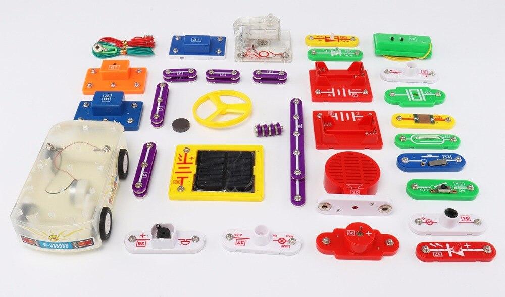 Blocs de construction électroniques science éducation jouets creative physique expérience technologie enfants jouets d'apprentissage W9889car - 5