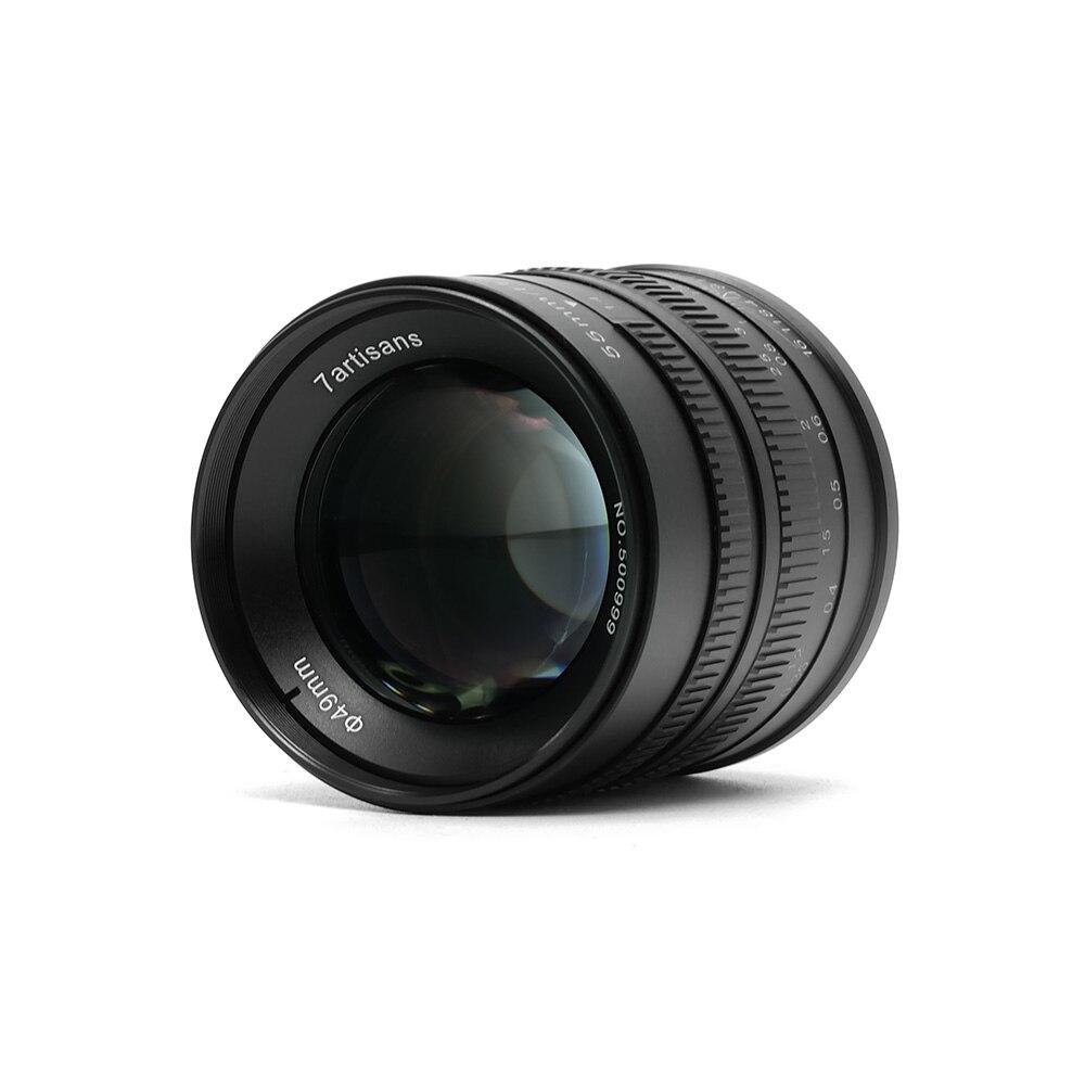 7 artesãos 55mm F1.4 Lente Principal para Único Series para Sony E Montar para Canon EOS-M Monte Câmeras A6000 A6300 A6500 M1 M2 M3 M5 M6