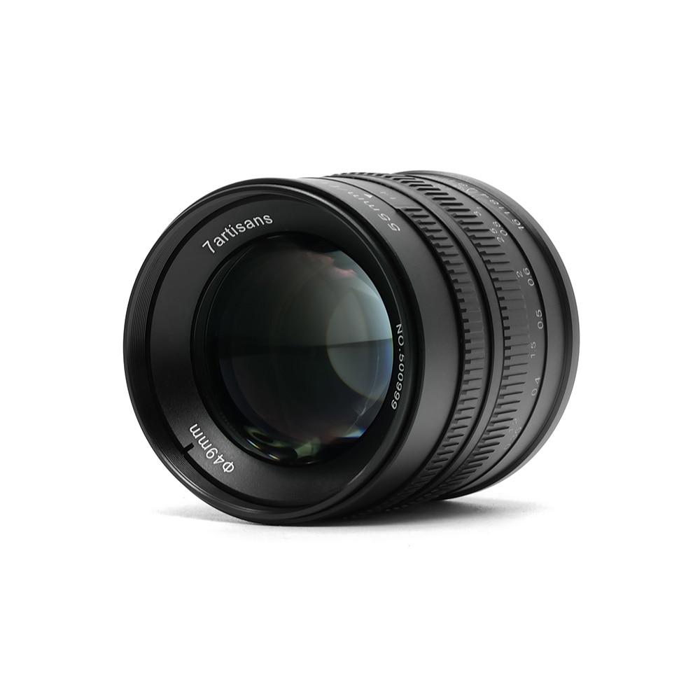 7 artesanos 55mm F1.4 Prime lente para sola serie para Sony e montaje para Canon EOS-M cámaras A6000 a6300 A6500 M1 M2 M3 M5 M6