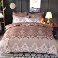 Комплект постельного белья с кружевным узором  3 шт./2 шт.  пододеяльник  наволочка  домашний текстиль для взрослых  размер King Queen  без простыни...