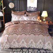 Lace Pattern Bedding Set 3pcs/2pcs Duvet Cover Pillowcase Pillow Sham Home Textile Adult King Queen Size No Sheet No Fillers