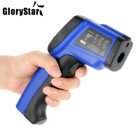 Digital LCD Laser IR infrared thermometer Non Contact Professional Temperature Tester Pyrometer Range 50~900 degrees