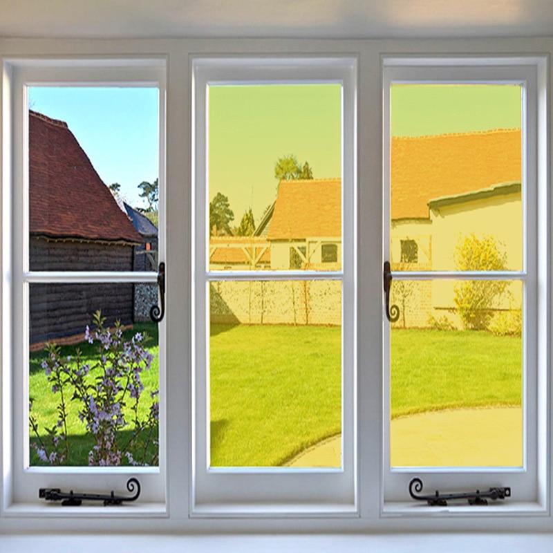 Largura 50cm Amarelo Decorativo filme de janela Não reflexiva película decorativa frete grátis A4/100 cm/200 cm /300 cm/500 cm/600 cm