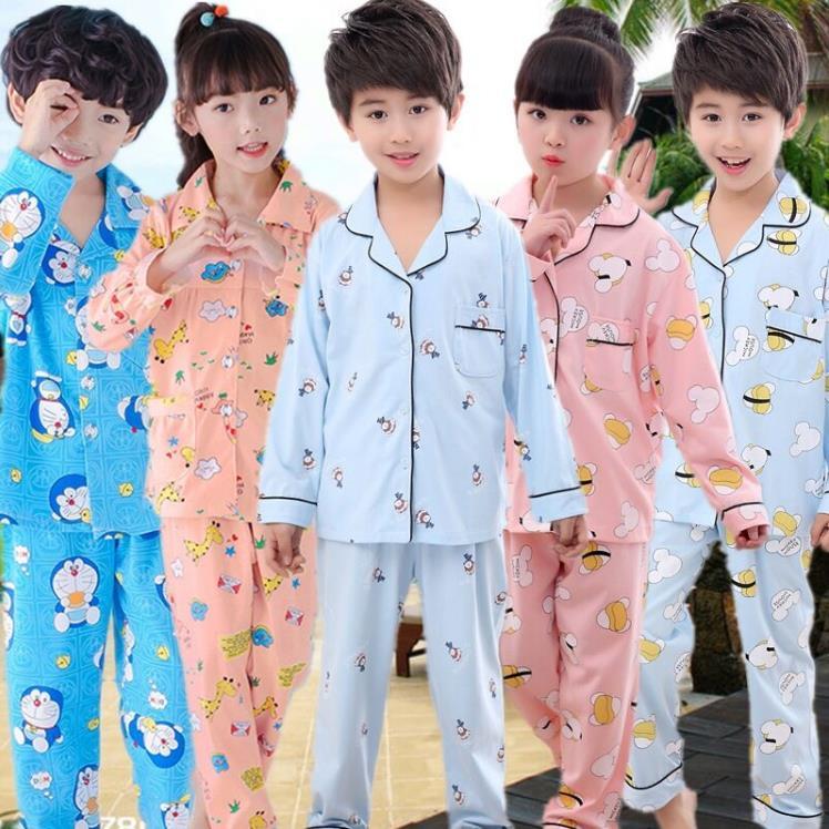 Kids Suit 2019 Spring Cardigan Children Pijamas Set Kids Home Wear Loungewear Baby Girls Sleepwear Cartoon Boys Nightwear Set