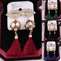 EH394 labios famous tassel de franjas kpop New 2015 jewelry brincos boucles d'oreilles bijoux bijouterie stud earrings for women