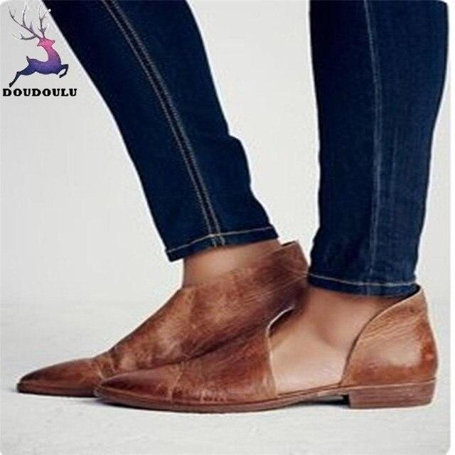 Плюс Размеры 36 ~ 43 Летние женские сандалии дамы Для женщин Весенняя мода Повседневное остроконечные туфли на плоской подошве открытые туфли женские zapatos mujer