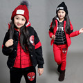 Spider Man Children Suit Winter Warm Thicken Three-piece Set 2017 Autumn Children Coats Sportswear Autumn Winter Boys girls kids