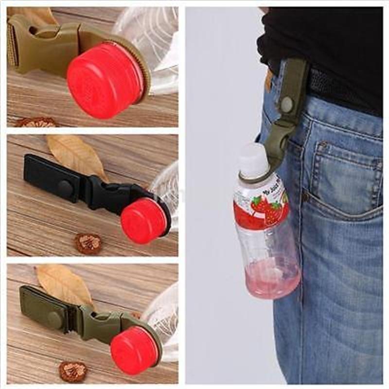 2pcs Molle Tactical Nylon Webbing Buckle Hook Water Bottle Holder Clip Carabiner