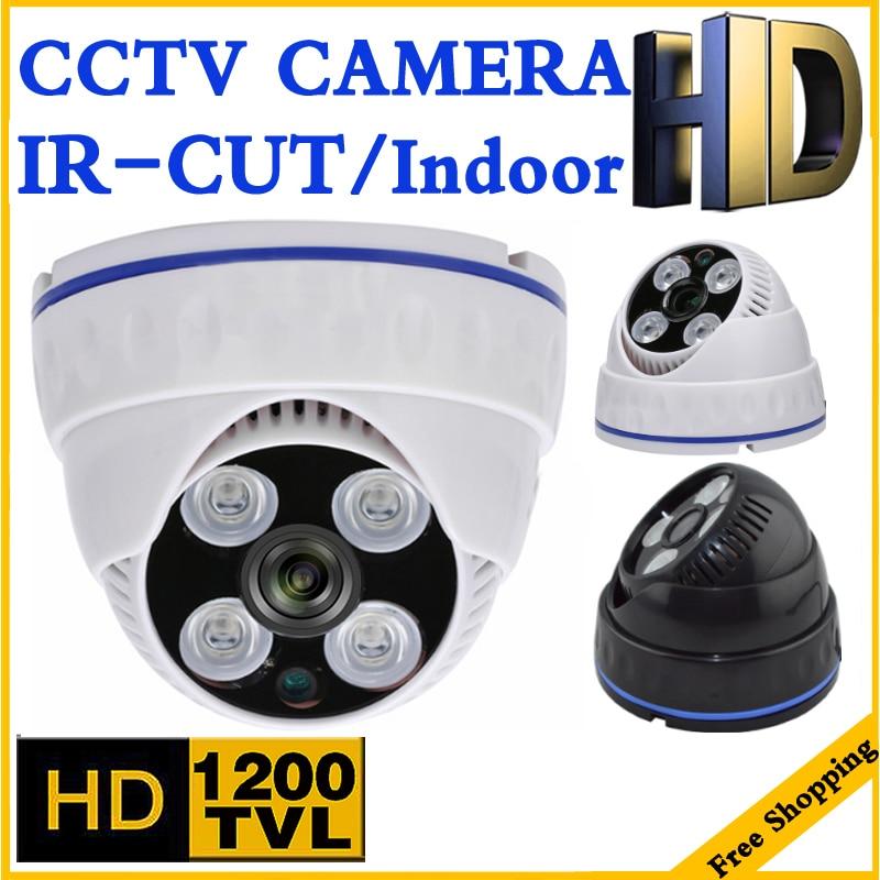 H.264 CMOS 1200TVL PAL NTSC Security Cameras 3.6MM Security Surveillance Indoor CCTV BNC Wired Dome Camera Analog CCTV Camera