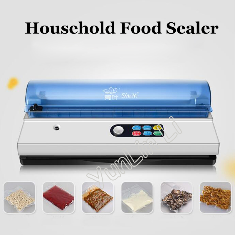 Household Food Sealer 110V 220V Electric Vacuum Heat Sealing Machine Home Food Vacuum Sealer Machine Bag