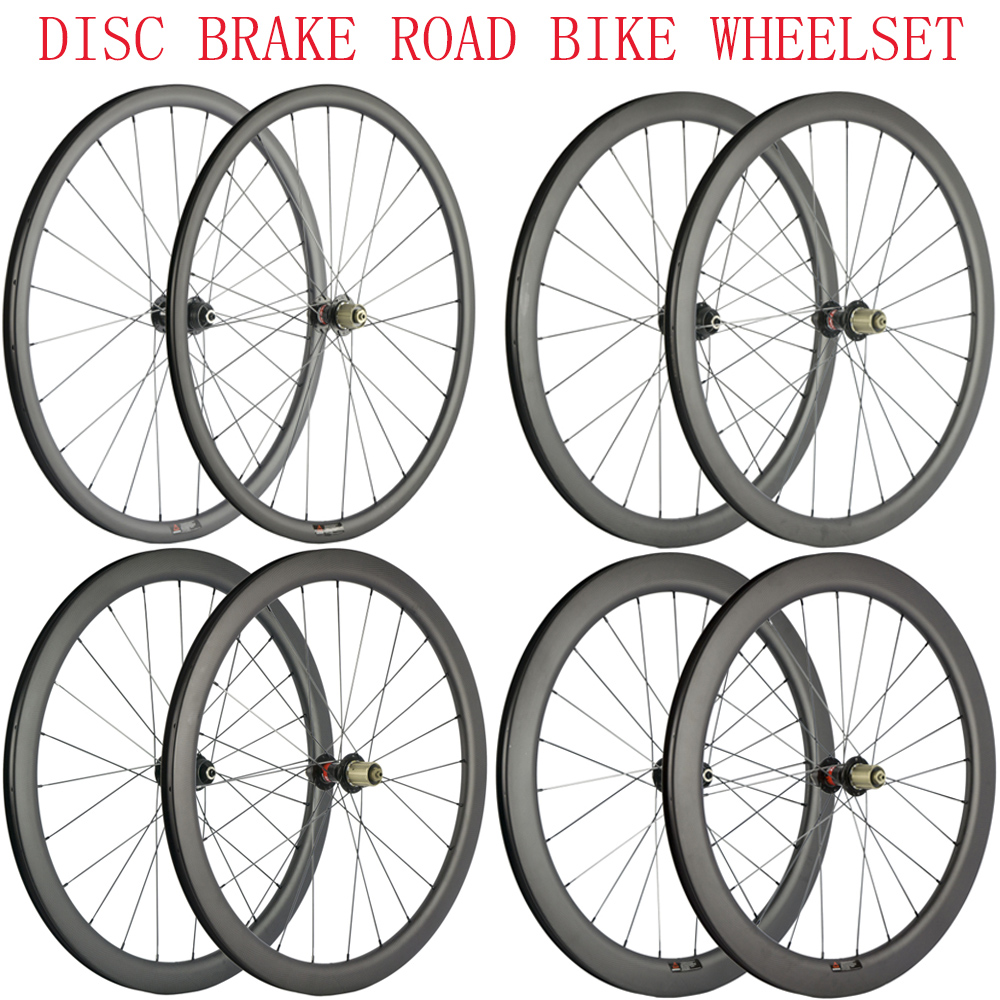 30 40 45 55mm Disc Brake Road Bike Clincher Carbon Wheelset Cyclocross Wheels Tubular Carbon Wheel