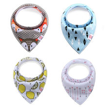 Baby Bibs for Boys Girls 0-2T Cotton Newborn Baby Bibs Double Triangle Towel Infant Feeding Clothing(China)