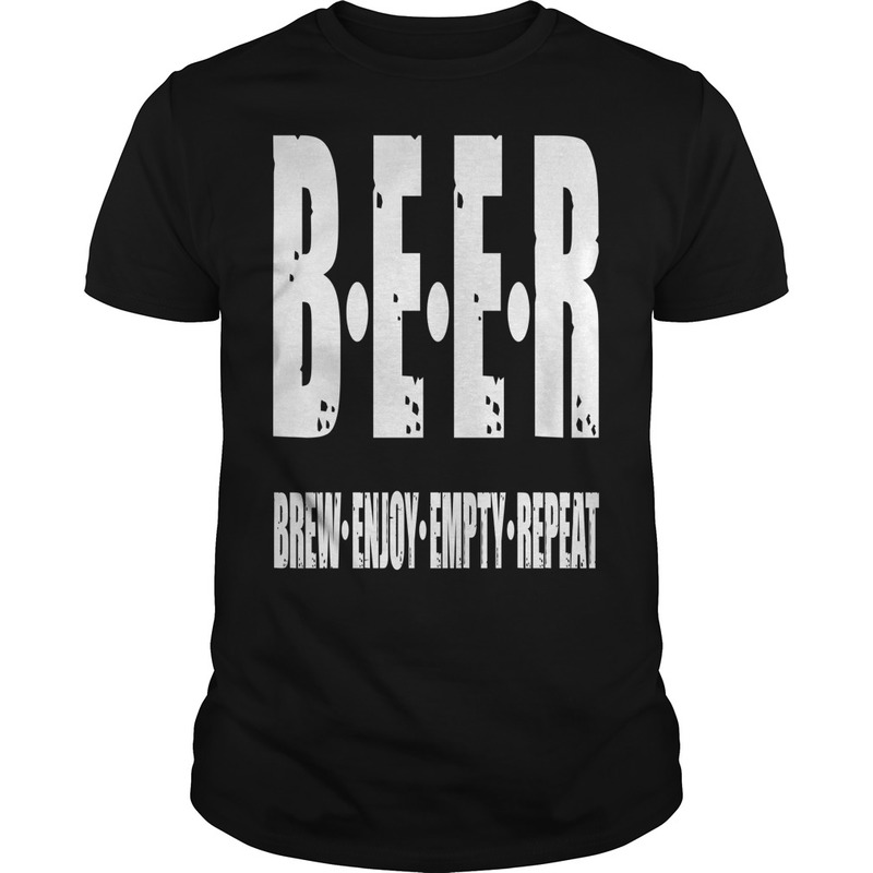 Beer Brew Enjoy Empty Repeat Men T Shirt Pure Cotton Mens Short Sleeve English Alphabet Mens Tee Shirt Men T Shirt