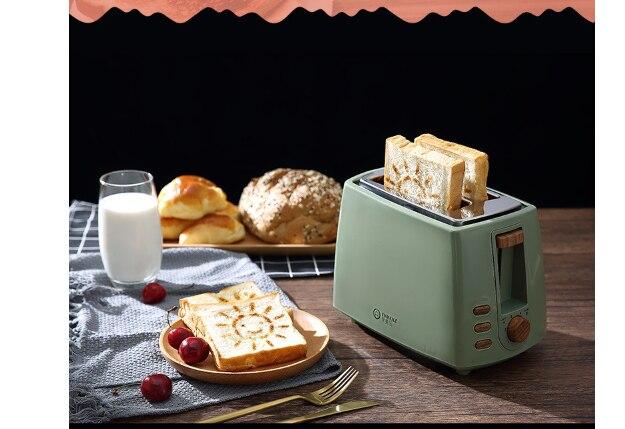 Color : Pink Tostapane Elettrico Automatico 2 Fette Slot Toast Cottura Forno Grill Riscaldatore Mini Sandwich Macchina For La Colazione Macchina For Il Pane Spina UE